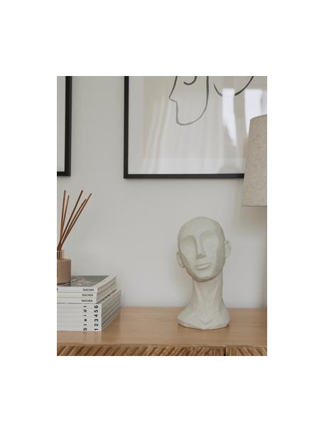 Dekoracja Head, Poliresing, Złamana biel, S 18 x W 28 cm