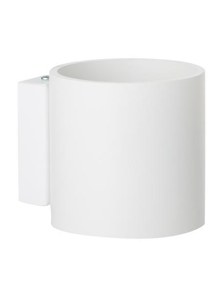 Wandlamp Roda in wit, Lampenkap: gepoedercoat aluminium, Wit, 10 x 10 cm