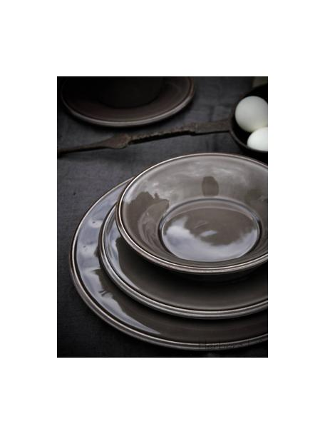 Kommen Constance in landelijke stijl, 2 stuks, Keramiek, Bruin, Ø 19 x H 5 cm
