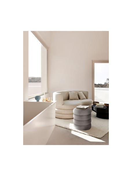 Fluwelen poef Alto, Bekleding: fluweel (polyester), Frame: multiplex, Fluweel grijs, Ø 42 x H 48 cm
