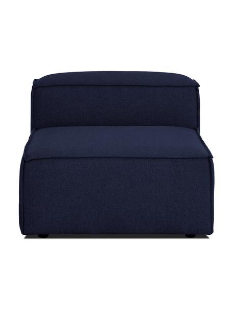 Módulo central sofá Lennon, Tapizado: 100%poliéster Alta resis, Estructura: madera de pino maciza, ma, Patas: plástico Las patas están , Tejido azul, An 89 x F 119 cm