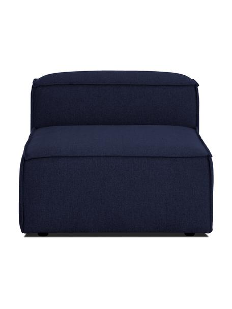 Modulo centrale in tessuto blu Lennon, Rivestimento: 100% poliestere Con 115.0, Struttura: legno di pino massiccio, , Piedini: plastica I piedini si tro, Tessuto blu, Larg. 89 x Prof. 119 cm