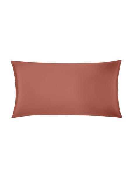 Funda de almohada de lino Nature, 45x85cm, Lino mixto (52%lino, 48%algodón) Densidad de hilo 108TC, calidad estándar Las prendas de lino mixto absorben hasta 35%de humedad intercambiandola con el ambiente, se seca muy rápido y tiene un agradable efecto refrescante para las noches de verano. Además su alta resistencia a la abrasión hace que el lino sea muy duradero., Terracota, An 45 x L 85 cm