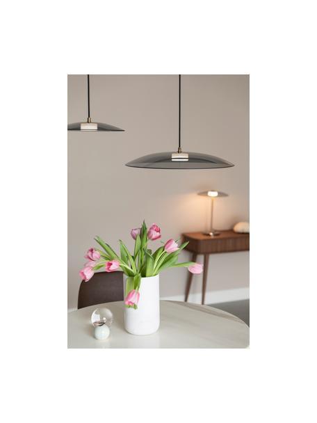 Lámpara de techo LED regulable de vidrio Float, Pantalla: vidrio, Anclaje: metal recubierto, Cable: cubierto en tela, Dorado, transparente, Ø 50 x Al 7 cm