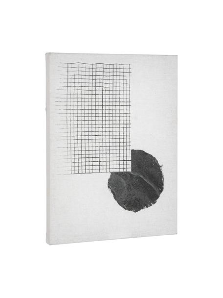 Leinwandbild Prisma, Bild: Leinwand, Weiß, Schwarz, 30 x 40 cm