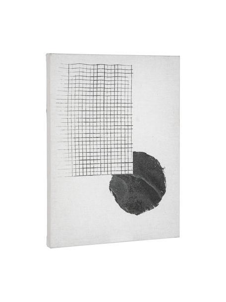 Obraz na płótnie Prisma, Biały, czarny, S 30 x W 40 cm