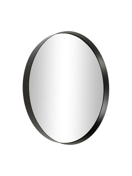 Okrągłe lustro ścienne z metalową ramą Metal, Czarny, Ø 30 x G 3 cm