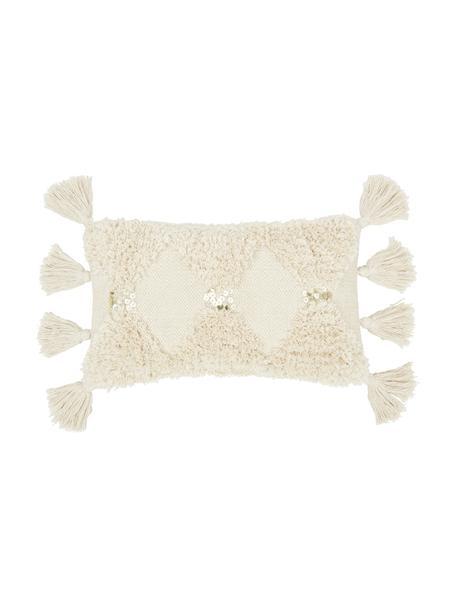 Funda de cojín texturizada Judith, 100%algodón, Beige, An 30 x L 50 cm