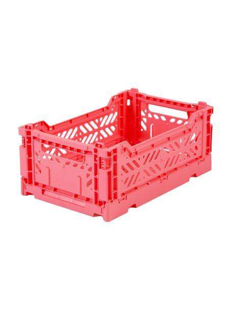 Caja plegable apilable Dark Pink, pequeña, Plástico reciclado, Rosa, An 27 x Al 11 cm