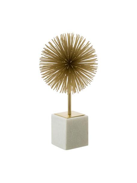 Dekoracja Marball, Nogi: marmur, Nasada: odcienie złotego Nogi: biały marmur, W 30 cm