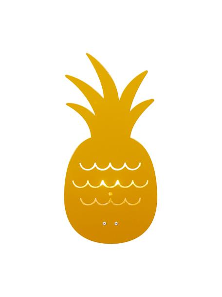 Aplique Pineapple, Metal con pintura en polvo, Ocre, An 17 x Al 33 cm