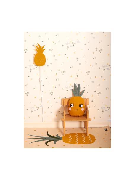 Kinkiet Pineapple, Metal malowany proszkowo, Brunatnożółty, S 17 x W 33 cm