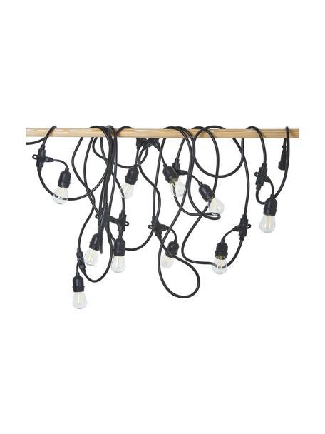 Guirnalda de luces LED Joy, 1000cm, 10 luces, Casquillo: polietileno, Cable: polietileno, Negro, L 1000 cm