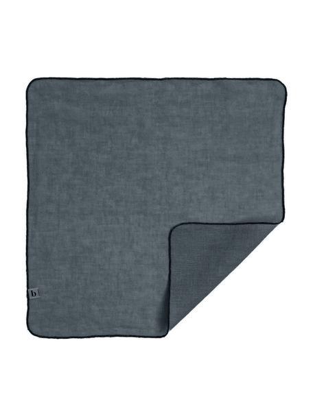 Servilletas de lino Gracie, 2uds., 100%lino, Azul petróleo, An 45 x L 45 cm