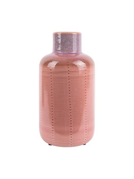 Vaso in ceramica Bottle, Ceramica, Rosa, Ø 12 x Alt. 23 cm