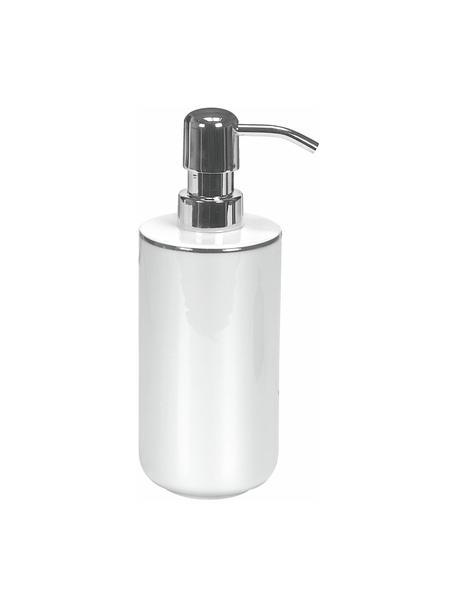 Dosificador de jabón de porcelana Noblesse, Recipiente: porcelana, Dosificador: metal, Blanco, Ø 8 x Al 19 cm