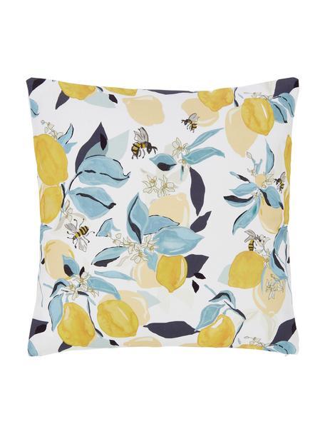 Federa arredo con motivo limoni Bumble, 100% cotone, Multicolore, Larg. 40 x Lung. 40 cm