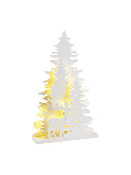 Pieza luminosa LED Forta, funciona a pilas, Plástico, Blanco, An 22 x Al 36 cm