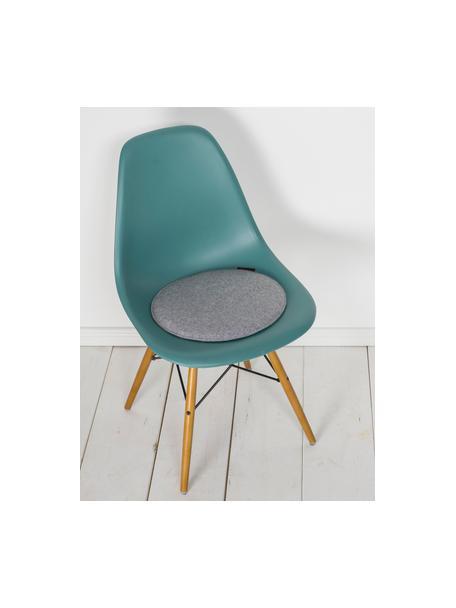Okrągła poduszka na krzesło z filcu Avaro, 4 szt., Szary, Ø 35 x W 1 cm