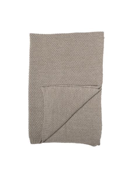 Manta para bebés de lana Tuna, 55%lana, 16%poliéster, 15%acrílico, 7%viscosa, 7%otras fibras, Marrón, An 80 x L 100 cm