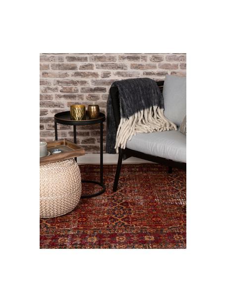 In- & Outdoor-Teppich Tilas Izmir in Dunkelrot, Orient Style, 100% Polypropylen, Dunkelrot, Senfgelb, Khaki, B 120 x L 170 cm (Größe S)