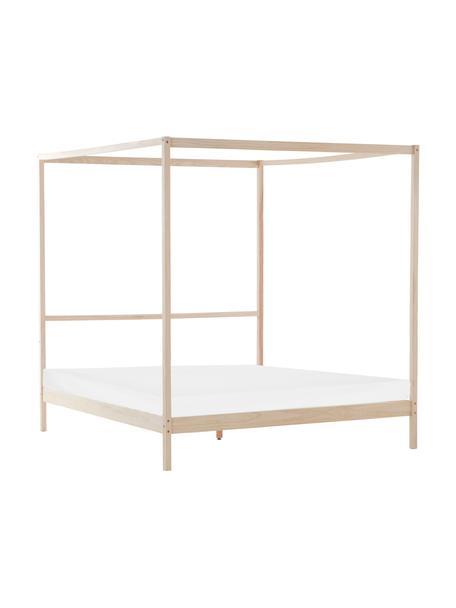 Łóżko z drewna sosnowego z baldachimem Tiveden, Drewno sosnowe, Jasny brązowy, S 160 x D 200 cm