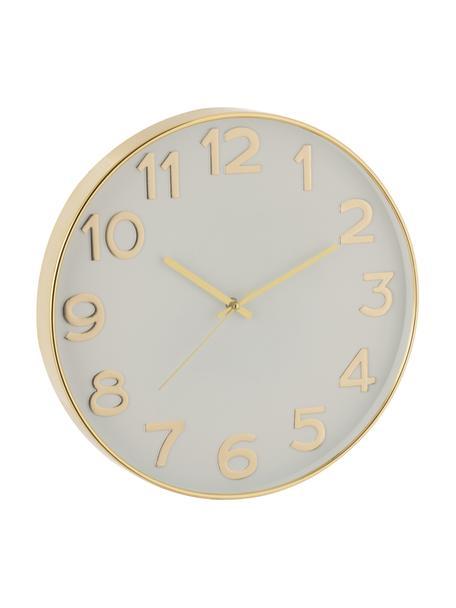 Zegar ścienny Arabic, Tworzywo sztuczne, Odcienie mosiądzu, Ø 40 cm