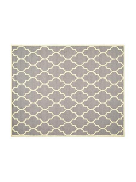 Tappeto in lana taftato a mano Everly, Vello: 100% lana, Retro: 100% cotone, Grigio chiaro, crema, L 304 x P 243 cm