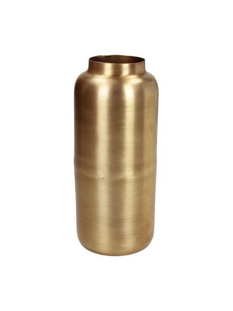 Vaso tondo decorativo in metallo Simply, Metallo rivestito e non impermeabile, Ottonato, Ø 8 x Alt. 19 cm