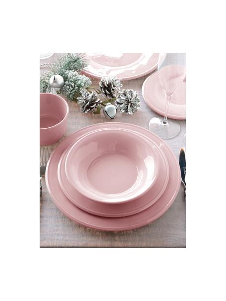 Talerz śniadaniowy Constance, 2 szt., Kamionka, Blady różowy, Ø 24 cm
