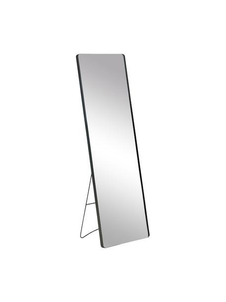 Espejo de pie de metal Stefo, Espejo: cristal, Negro, An 45 x Al 140 cm