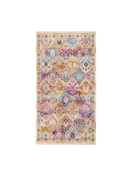 Niederflor-Teppich Sunita mit bunten Ornamenten, Flor: 100% Polypropylen, Mehrfarbig, B 80 x L 150 cm (Größe XS)