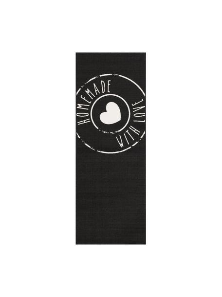 Chodnik Homemade with Love, Czarny, biały, S 67 x D 180 cm