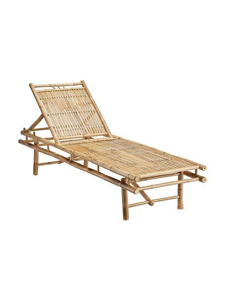 Bamboehouten ligstoel Mandisa, Bamboehout, naturel, Bamboehoutkleurig, 200 x 30 cm