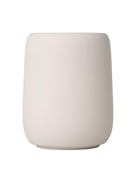 Bicchiere portaspazzolini in ceramica Sono, Ceramica, Beige, Ø 9 x Alt. 11 cm
