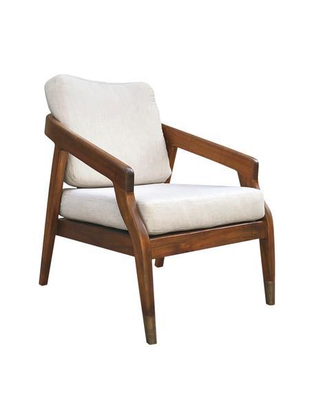 Fotel wypoczynkowy z drewna mindi Mindi, Brązowy, S 70 x G 79 cm