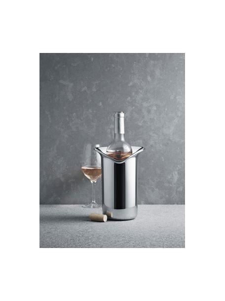 Cooler ze stali szlachetnej Wine & Bar, Stal szlachetna polerowana na wysoki połysk, Stal szlachetna, błyszczący, S 16 x W 22 cm