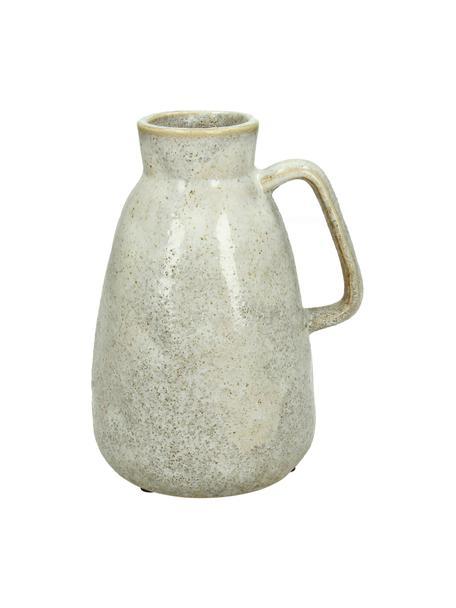 Vaso decorativo vintage Ametrine, Gres, Beige, Larg. 12 x Alt. 17 cm