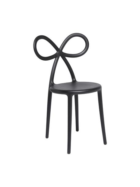 Sedia color nera Ribbon, Plastica (polipropilene), Nero, Larg. 53 x Prof. 52 cm