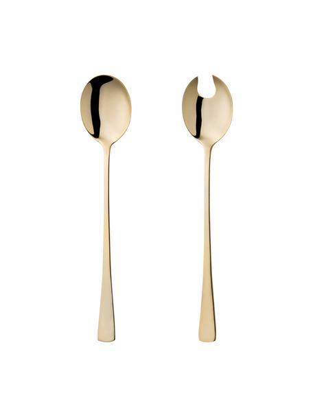 Set 2 posate per insalata in acciaio inossidabile Matera, Acciaio inossidabile, Dorato, Lung. 27 cm