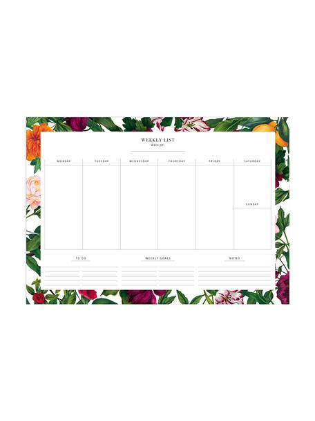 Weekplanner The English Garden, Papier, Multicolour, 30 x 21 cm