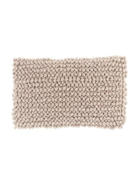 Federa arredo beige  con palline di tessuto Iona, Retro: 100% cotone, Beige, Larg. 30 x Lung. 50 cm