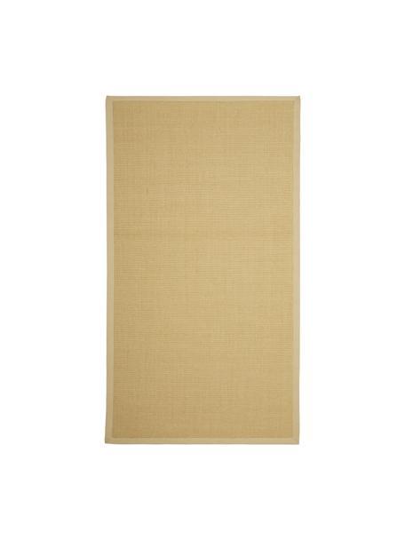 Tappeto in sisal fatto a mano Nala, Bordo: cotone, Beige, Larg. 80 x Lung. 150 cm (taglia XS)