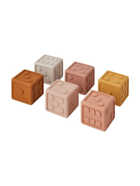 Set di dadi Gloria 6 pz, 100% silicone, Rosa, multicolore, Larg. 5 x Alt. 5 cm