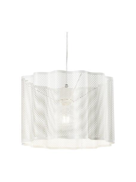 Hanglamp Glicine in wit, Lampenkap: gecoat metaal, Baldakijn: gecoat metaal, Wit, Ø 40 x H 28 cm