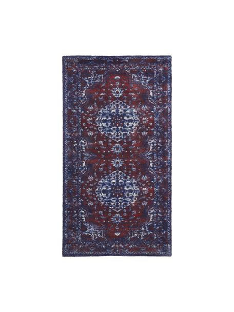 Teppich Elegant im Vintage Style, Flor: 100% Nylon, Rot, Blau, B 80 x L 150 cm (Grösse XS)