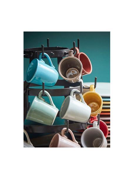 Tazas de café Constance, 2uds., estilo rústico, Gres, Gris claro, Ø 8 x Al 6