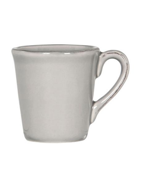 Tazzina caffè in gres color grigio opaco Constance 2 pz, Gres, Grigio chiaro, Ø 8 x Alt. 6 cm