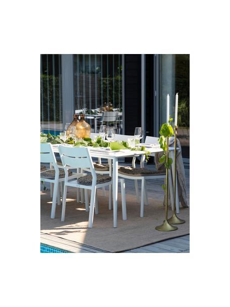 Stapelbarer Gartenstuhl Delia in Weiß, Aluminium, pulverbeschichtet, Weiß, B 48 x T 55 cm