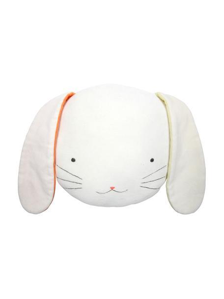 Kuschelkissen Bunny, Bezug: Baumwollsamt, Weiß, Gelb, Orange, Schwarz, 26 x 20 cm